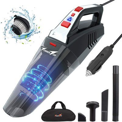 TowerTop 12V 5500PA Car Hoover
