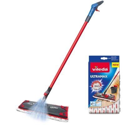Vileda 1-2 Spray Microfibre Flat Spray Mop
