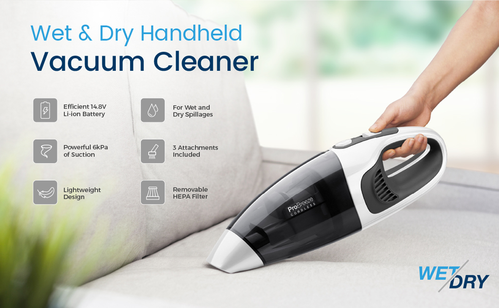 Wet and Dry Handheld Vacuum Cleaner