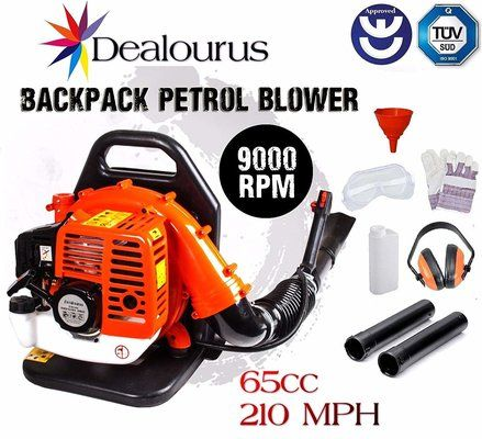 Dealourus 2019 65cc Petrol Backpack Leaf Blower