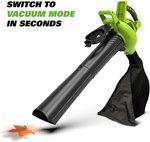 Greenworks 40V Cordless Brushless Blower Vacuum