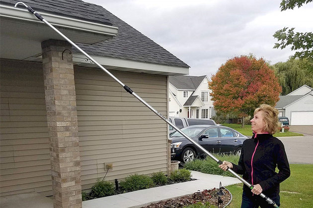 clean gutters without a ladder