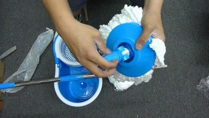 How To Remove Mop Head From Spin Mop?