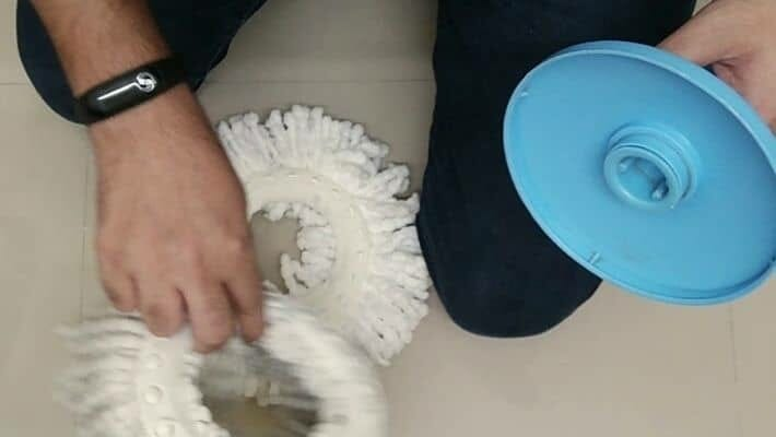 Remove Mop Head From Spin Mop